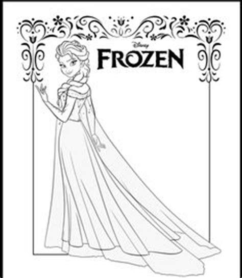 frozen coloring page pdf elsa on elsa elsa frozen and elsa hair