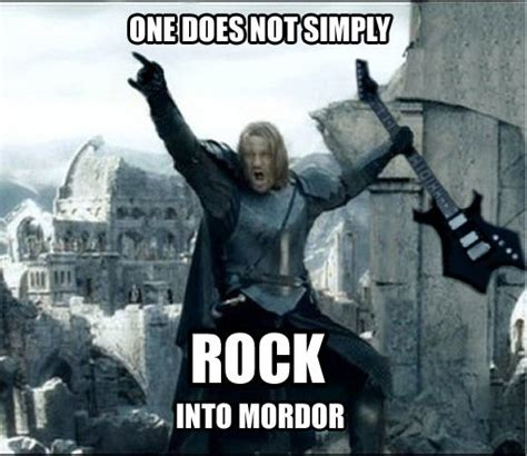 Funny Rock Memes - one does not simply meme 15