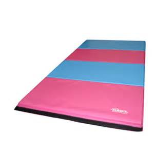 8ft pink light blue folding gymnastics mat by nimble sports