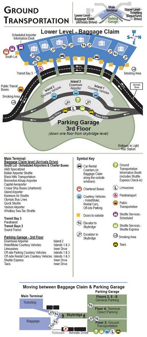 san jose international airport parking map airport parking map seattle airport ground