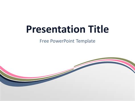free ppt templates for ngo free pink abstract wave powerpoint template title slide