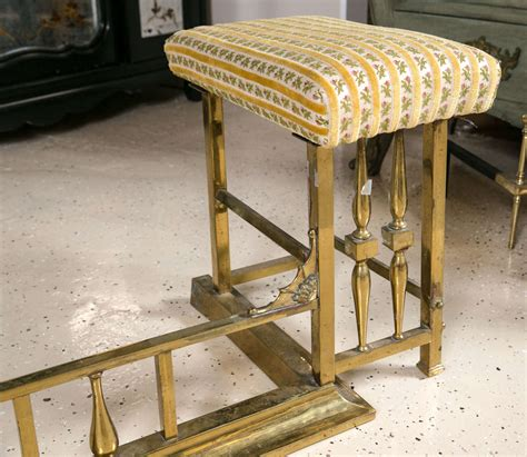 Fender Seats Fireplace by Brass Fireplace Fender With Seating At 1stdibs