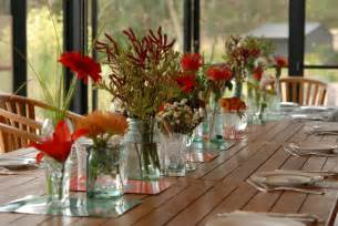 Vase decorations centerpieces with corn sand and fall leafs interior