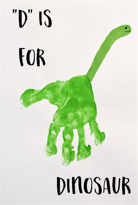 dinosaur craft projects letter d dinosaur handprint for crafts