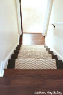 Diy Rug Binding Painted Stairs And Adding Runners Southern Hospitality