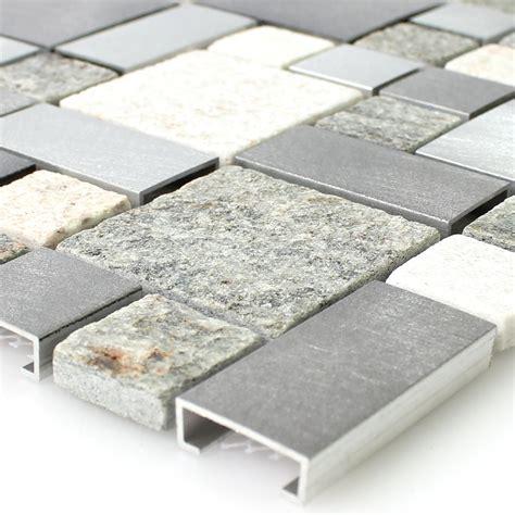 metall fliesen quarzit aluminium metall mosaik fliesen mix tm33412