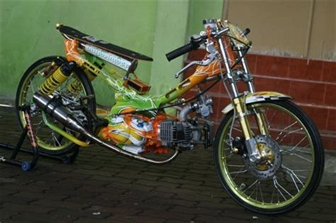 100 gambar motor drag mio jupiter rx king satria fu modif drag
