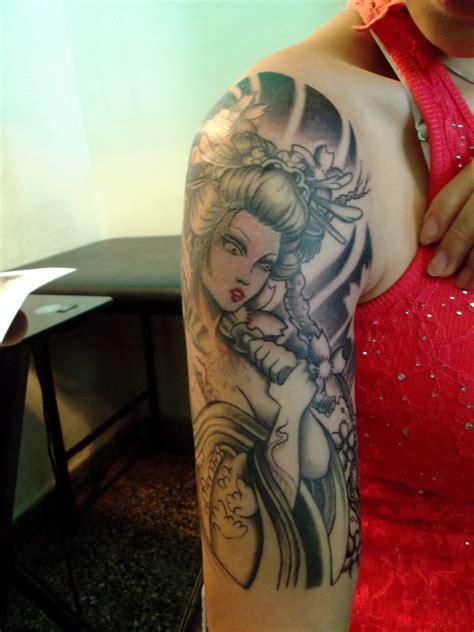 geisha en tattoo lorien tattoo tattoo geisha en progreso