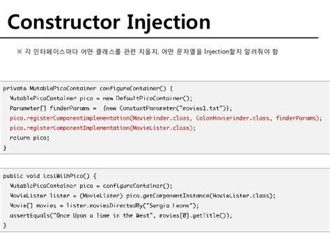 constructor vs setter dependency injection spring ioc and di pattern