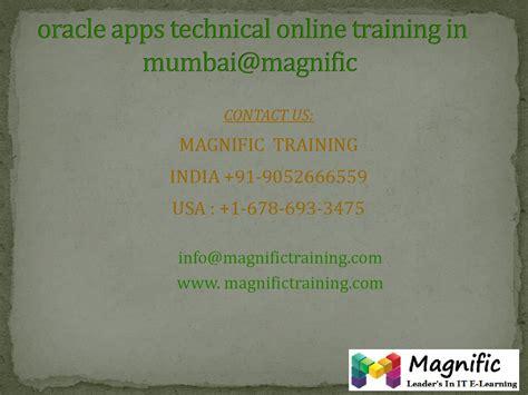 Oracle Tutorial In Mumbai   oracle apps technical online training in mumbai magnific