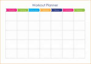 Workout Schedule Templates by 7 Workout Schedule Template Cashier Resume