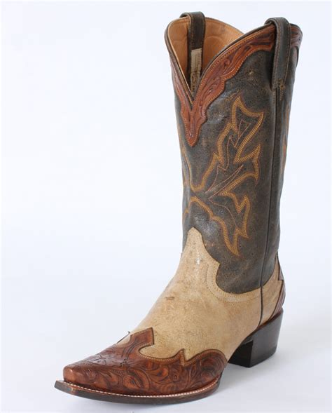 snip toe mens cowboy boots stetson 174 s handmade snip toe boots fort brands