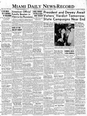 Daily Oklahoman Records Miami Daily News Record From Miami Oklahoma 183 Page 1