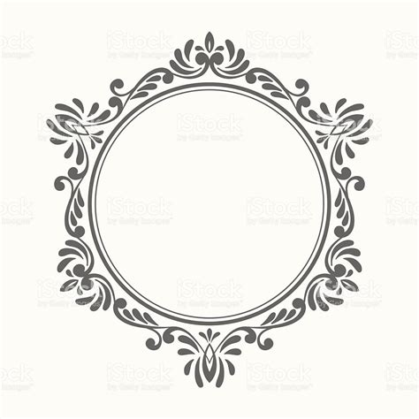 Ornate Cornice Elegant Luxury Retro Floral Frame Stock Vector Art Amp More