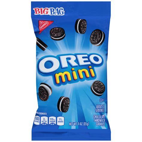 Chizkek Lumer Mini Choco Oreo oreo mini sandwich cookies chocolate bite size big bag 3 oz
