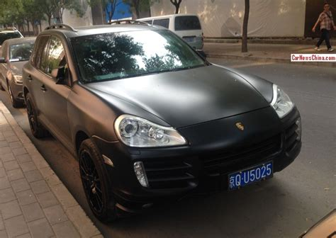 porsche cayenne matte black porsche cayenne is matte black in china carnewschina com