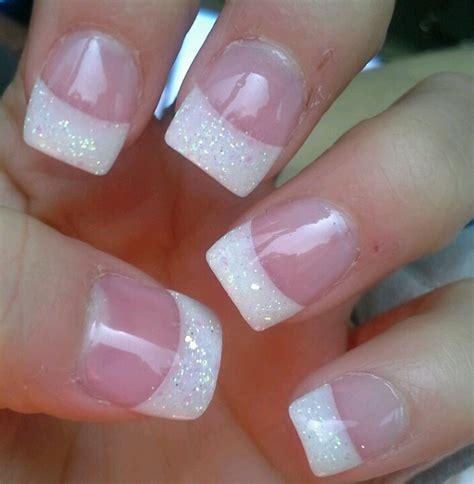 Nail Tips by Nails Glitter White Tip Stuff