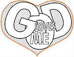 Loves me coloring pages on jesus valentine coloring pages printable