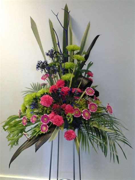 Pedestal Flower Arrangements pedestal arrangement floral design s 2