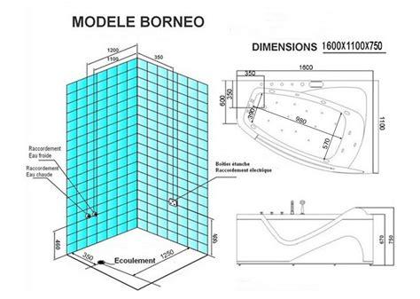 Baignoire Balneo 1 Place by Baignoire Baln 233 O Asym 233 Trique G Borneo 42 Jets Baignoire