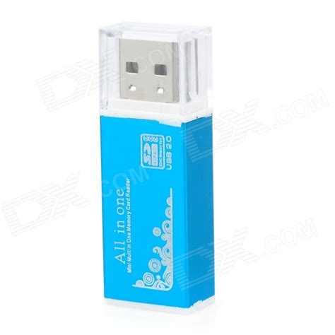 Card Reader 32 In 1 Usb2 0 Rotary siyoteam usb 2 0 multi in one memory card reader blue max 32gb free shipping dealextreme