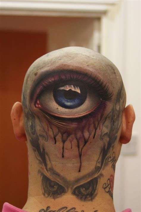 eyeball tattoo in usa 3d tattoo back of head the american dream
