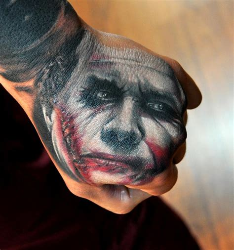 joker hand tattoo most stunning tattoos