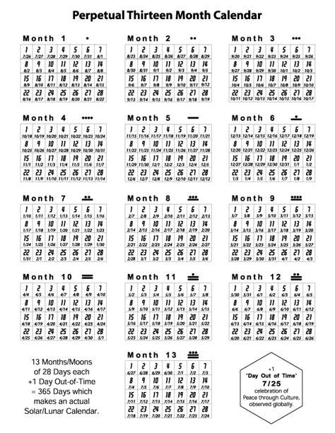 13 month calendar template 13 month calendar for 2015 calendar template 2016