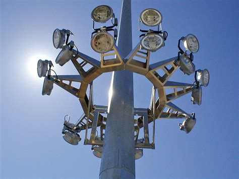 led high mast light high mast l power monitoring electrosys