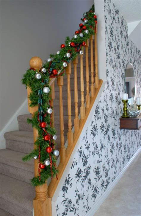 how to decorate banister with garland how to decorate banister with garland 28 images
