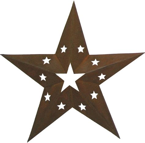 Decorative Stars For Homes by 24 Quot Tin Star With Star Cutouts Decor Rustic Decorative
