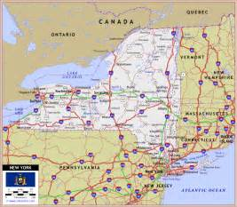 Map Of New York Highways by New York Map Road Travel Map Vacations