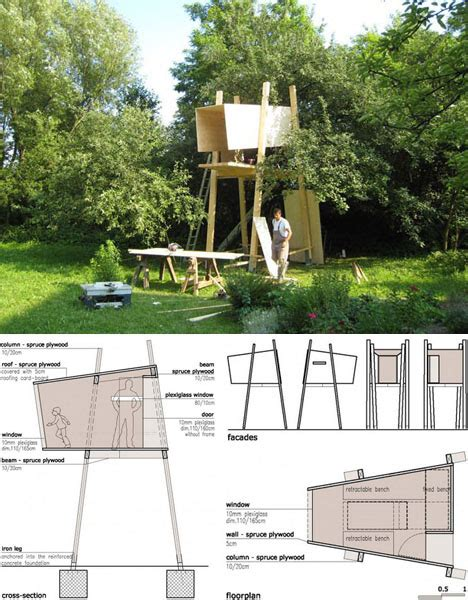 tree house plans for one tree treehouse 171 the tiny life