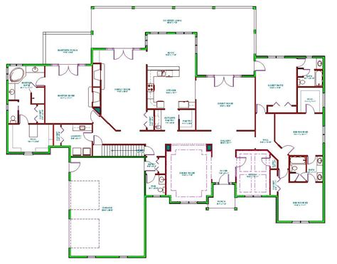 Split Bedroom Floor Plans Mediterranean House Plan Single Level Mediterranean Ranch