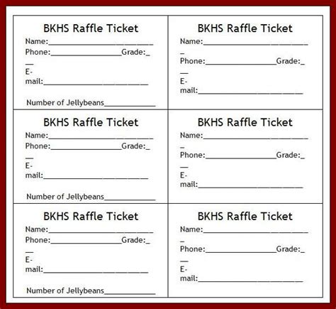 raffle sheet template agranihomesrealconstruction co