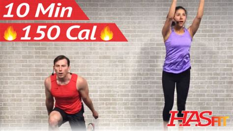 10 minute workout hiit home cardio workout without