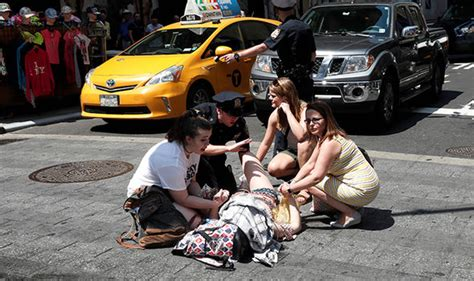 Times Square Hit And Run by New York Terror Times Square Pedestrians Hit By Speeding
