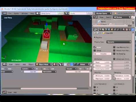 cara membuat game virtual membuat game dengan blender youtube