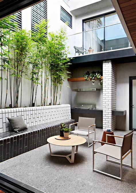 exteriores  patio interno pequeno de diseno moderno