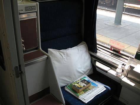 amtrak roomette sleeper car on the silver to florida