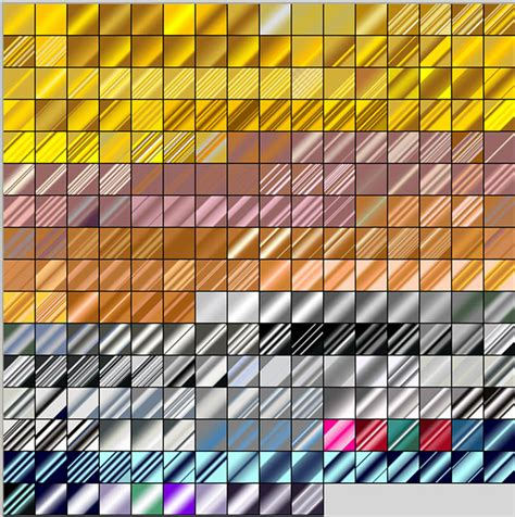 illustrator metal pattern swatches 250 free metal gradients for photoshop www