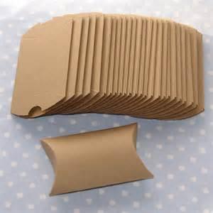 Cardboard Pillow Boxes by Set Of 25 Pillow Boxes 3 Brown Kraft Paper Destash