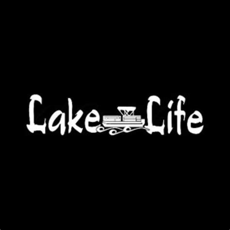 pontoon boat decals stickers lake life pontoon boat decal sticker gifts pinterest