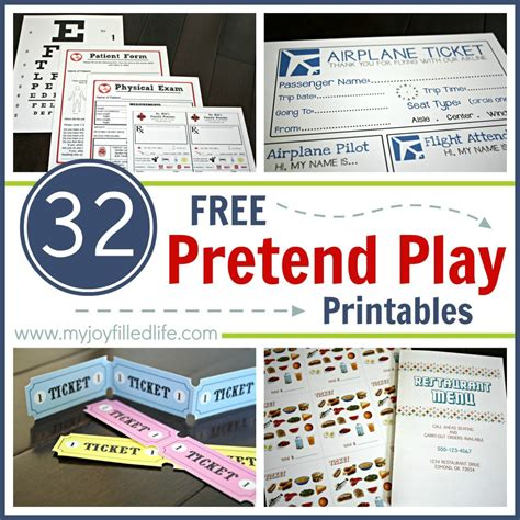 printable pretend tickets free pretend play printables pretend play plays and