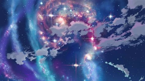 anime girl wallpaper space image clouds outer space stars galaxies anime skyscapes