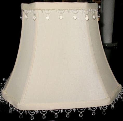 Burlap Chandelier Shade Beaded Fringe Rectangle Lamp Shade Lamp Shade Pro