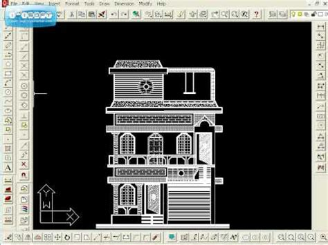 Residential Floor Plans And Elevations elevation house building avi youtube