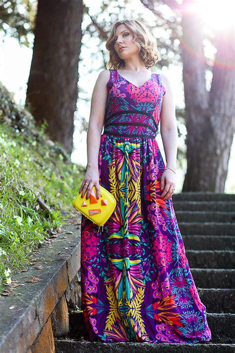 Bright Coloured Maxi Dresses - fashion coco et la vie en moda