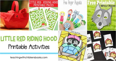 printable version of little red riding hood 15 little red riding hood story printable activities for kids