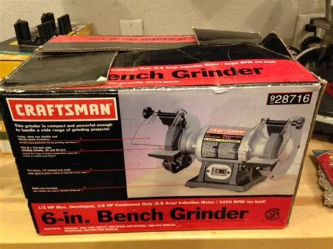 craftsman 6 inch bench grinder 6 inch craftsman bench grinder never used north regina